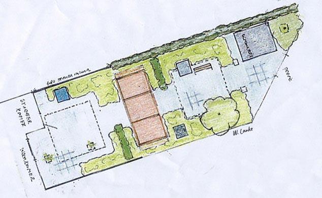 de Koning Creaties - omgevingsvormgevers - Buitenruimte - Tuinschets