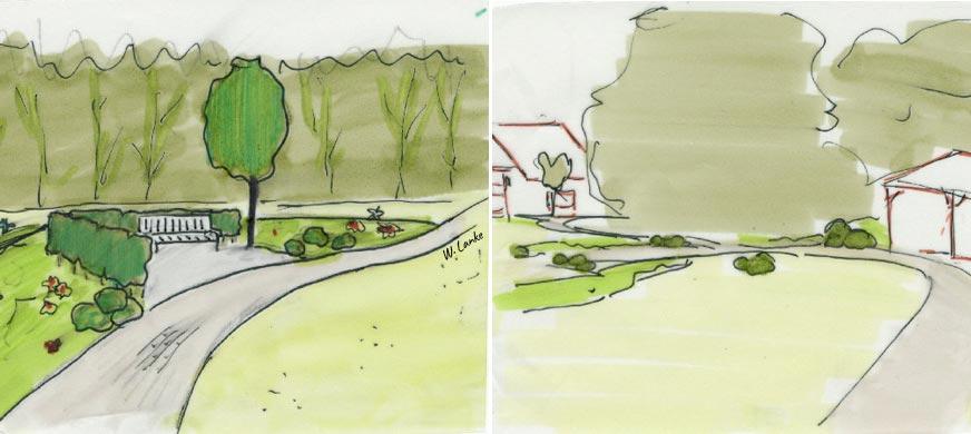 de Koning Creaties - omgevingsvormgevers - Buitenruimte - Tuinschetsen